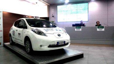 Photo of Nissan Leaf primo Taxi Elettrico a Roma con URI e 3570