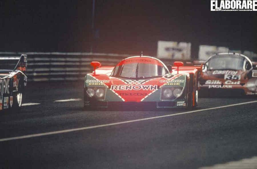 La Mazda 787b nel 1991 a Le Mans