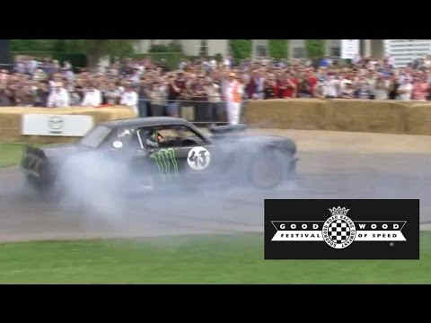 Photo of Ken Block show a GoodWood Mustang Ford