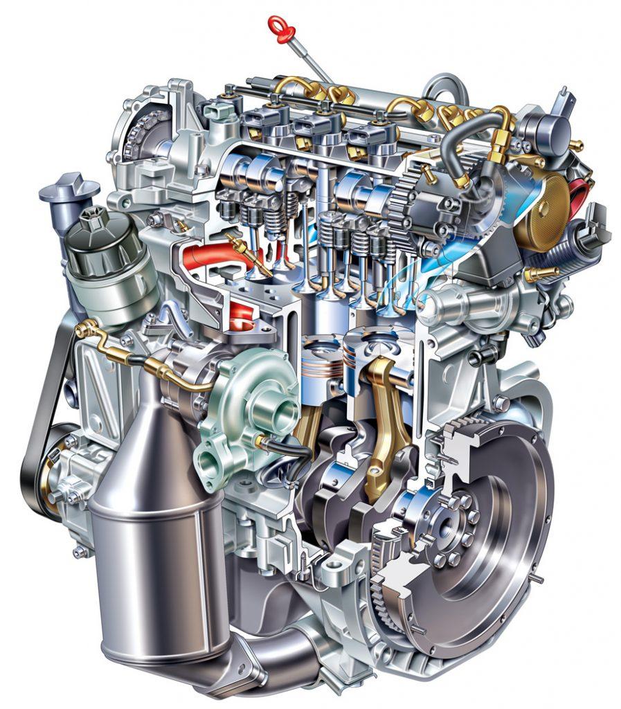 Motore MultiJet Fiat Spaccato che genera potenza e coppia