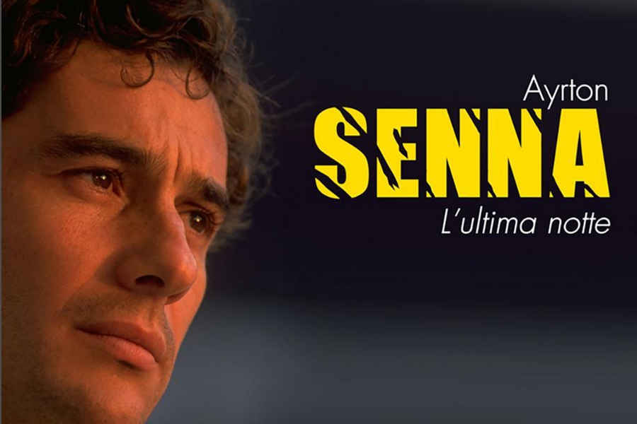 Ayrton Senna in primo piano