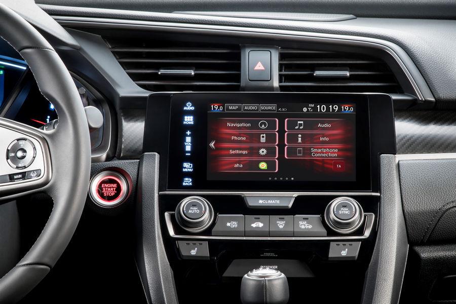 Connettività ed infotainment nuova Honda Civic 2017