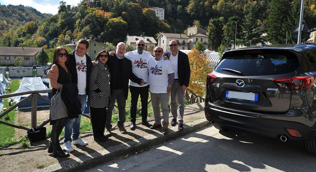 Photo of Una Mazda Cx-5 Donata al Comune di Arquata Del Tronto