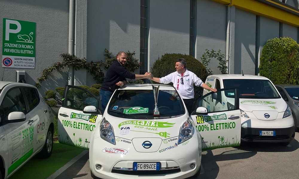 Photo of Nissan Leaf Vittoria E-Rally Cup Sanremo