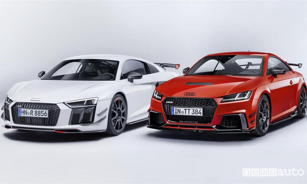 Photo of Le foto dell'Audi R8 e Audi TT con il kit Audi Sport Performance Parts