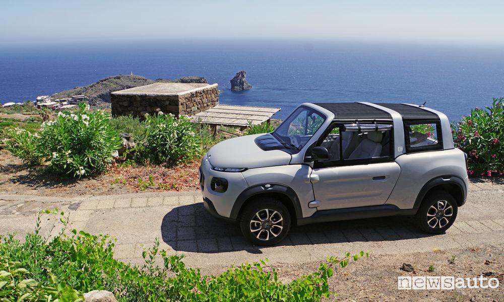 Photo of Foto Isola di Pantelleria con la Citroën E-Mehari