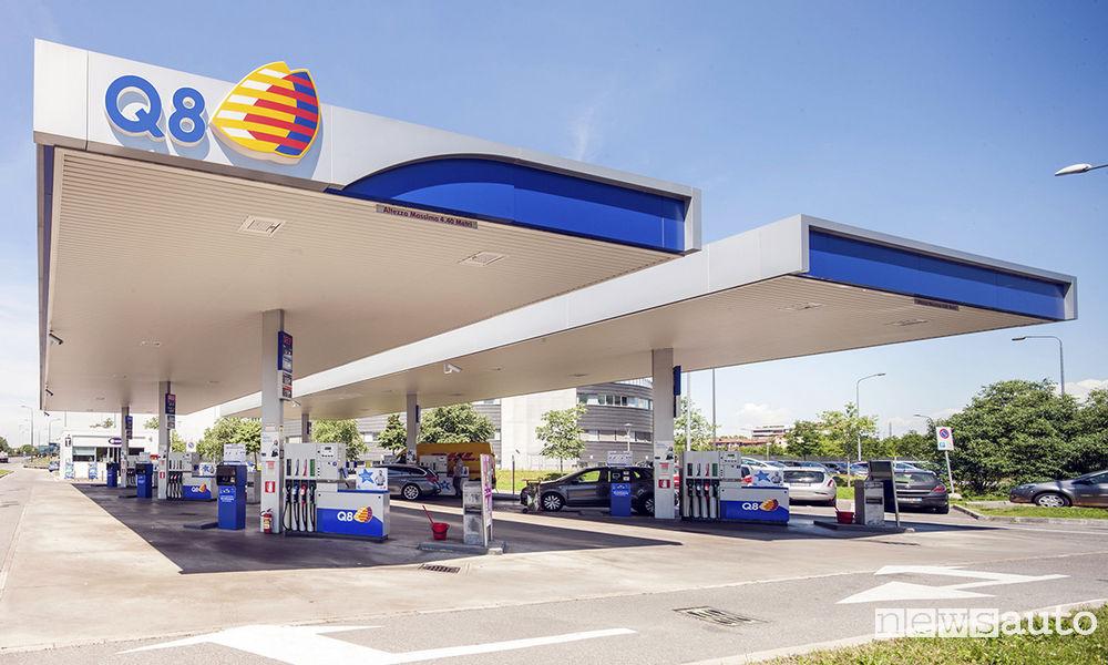 Rifornimento carburante car sharing a lungo termine benzinai Q8
