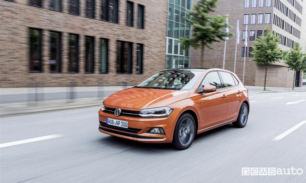 Vista di profilo Volkswagen Polo