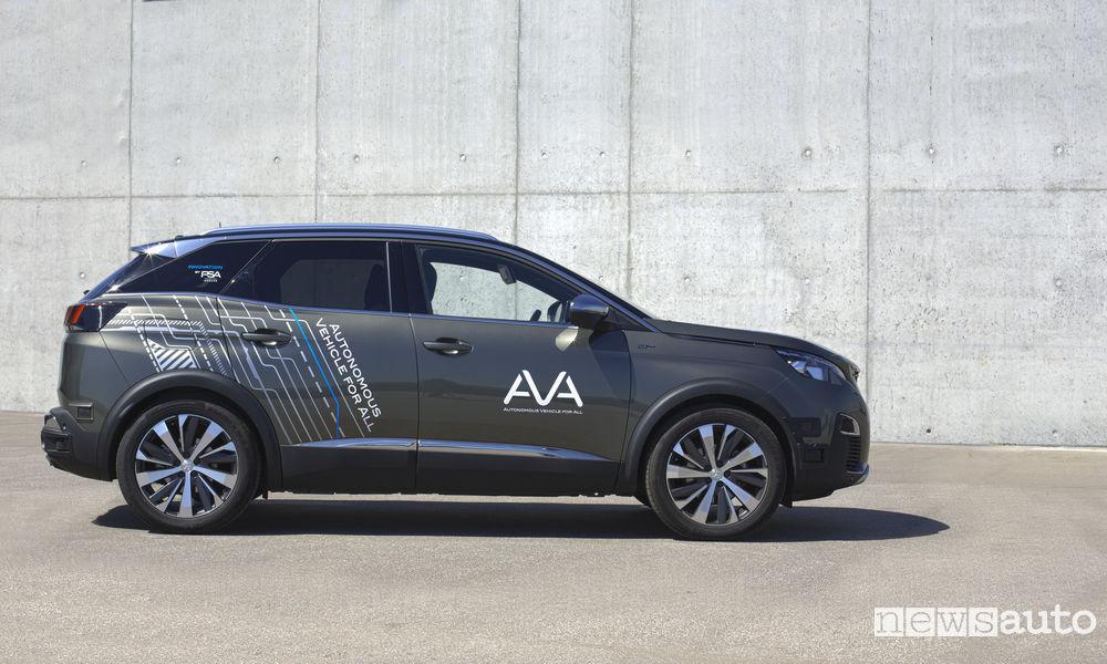 Peugeot 3008 a guida autonoma AVA Groupe PSA