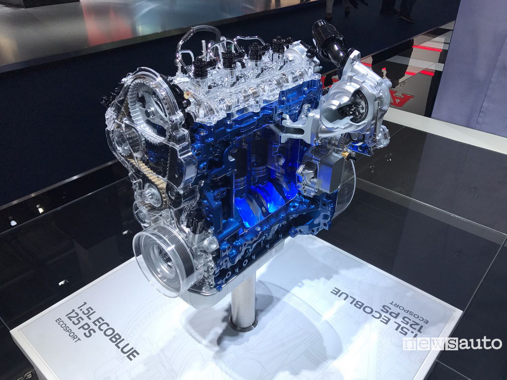 Il motore diesel Ford 1.5 Ecoblue presentato al Salone di Francoforte