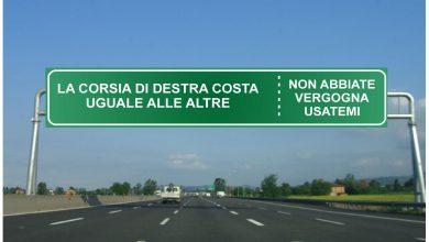 Photo of Viaggiare nella seconda corsia con la prima libera in autostrada si rischiano multe e punti patente