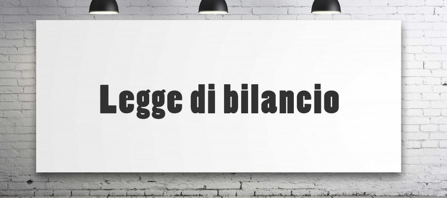 testo legge di Bilancio