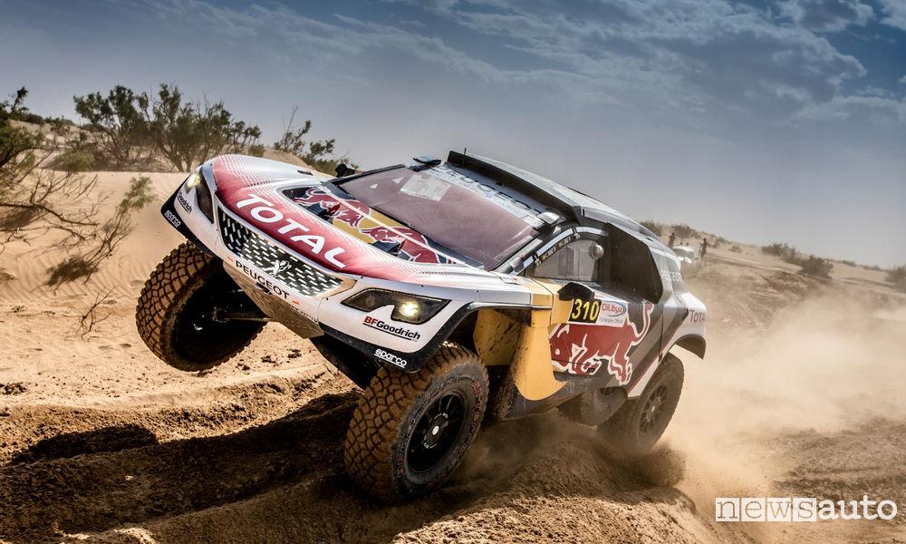 Photo of 3^ tappa Rally Marocco podio Peugeot