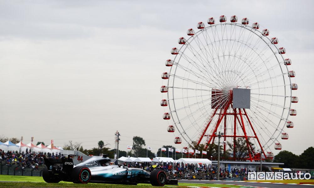 Qualifiche F1 Gp del Giappone 2017 Mercedes Hamilton