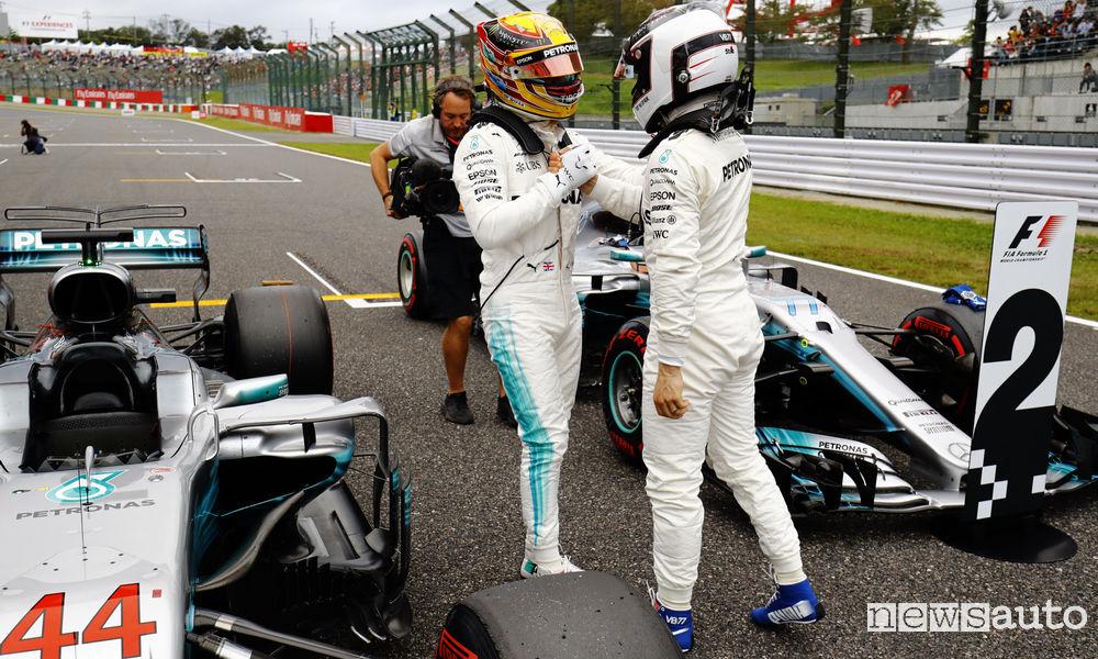 F1 Gp del Giappone 2017 Mercedes Hamilton