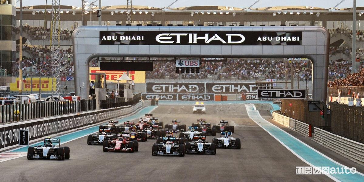 F1 Gp Abu Dhabi 2017orari TV