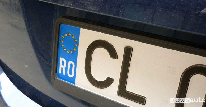 revisione auto targa estera romaniaone Romania