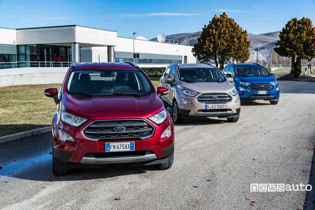 Ford Ecosport 1.0 Ecoboost vista anteriore