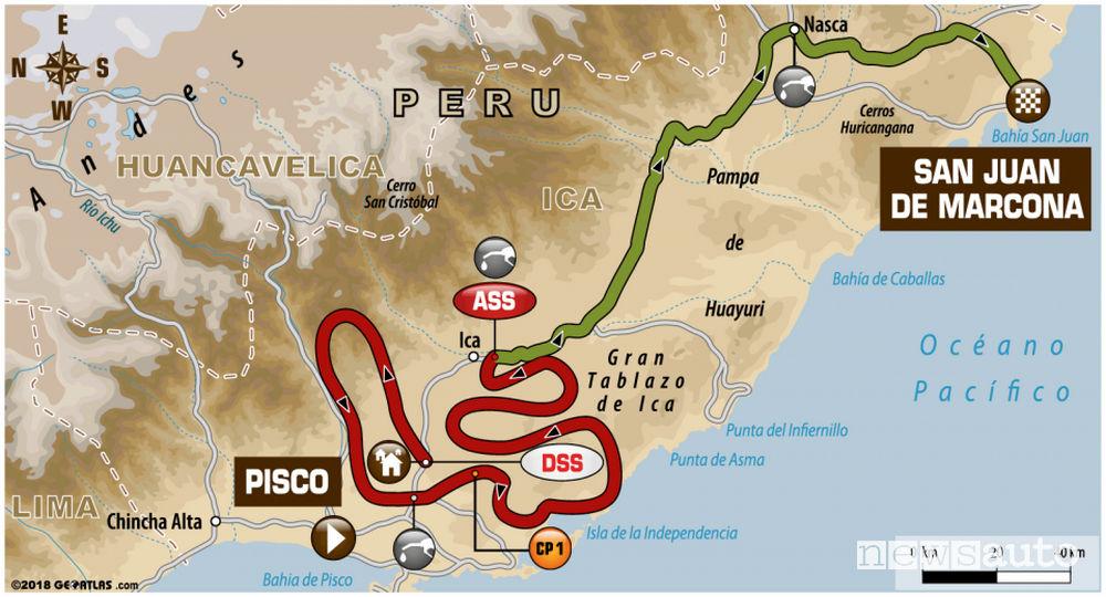 Dakar 2018 3^ tappa mappa