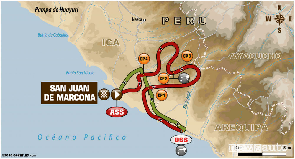 Dakar 2018 4^ tappa mappa percorso