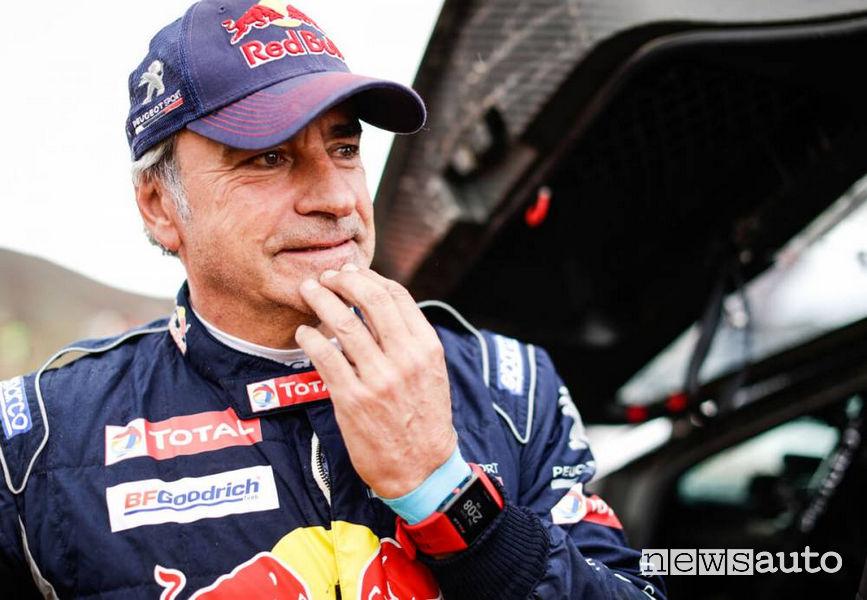 Dakar 2018 foto volti Carlo Sainz incertezza