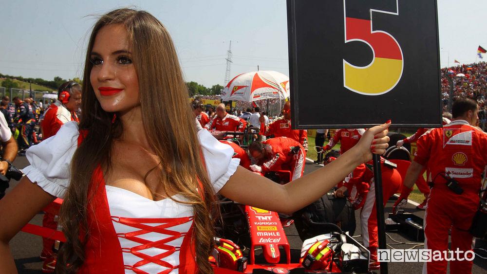 ragazze in Formula 1 grid girls