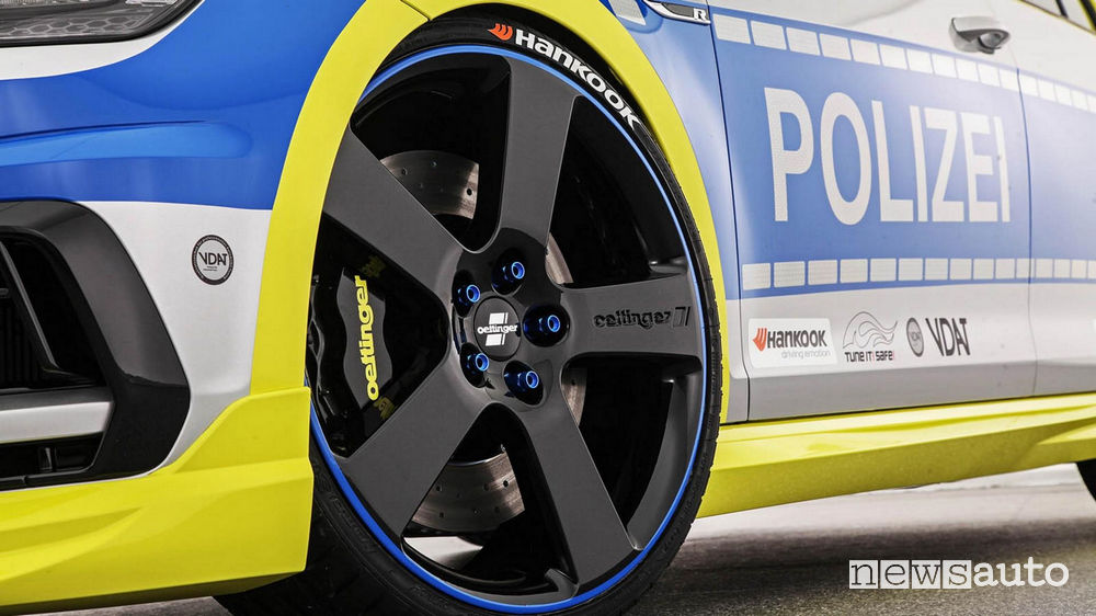 Volkswagen Golf R tuning Oettinger Polizia Tedesca