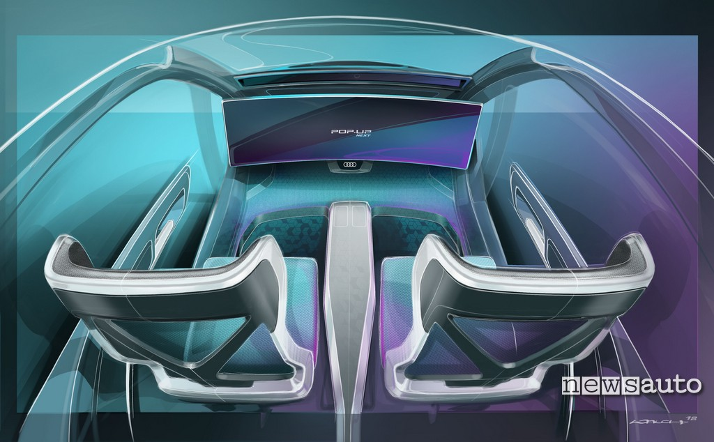 Italdesign Pop.up Next interni auto drone