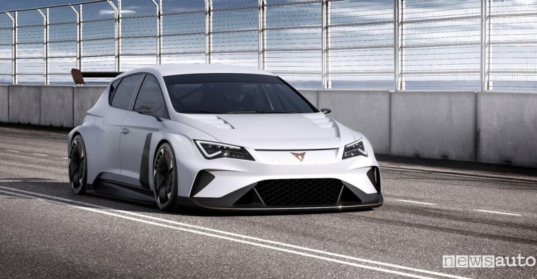 Seat Cupra e-Racer auto elettrica da corsa di Seat Motorsport