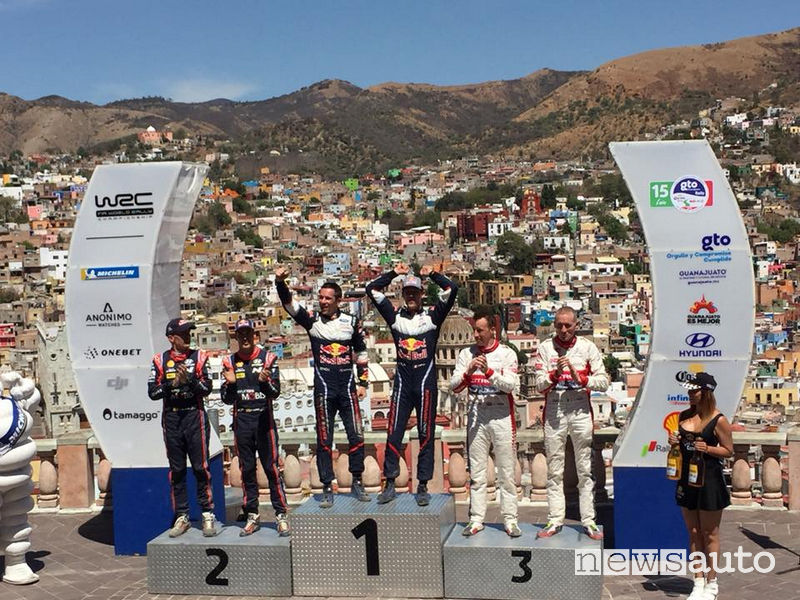 wrc 2018 podio Rally del Messico