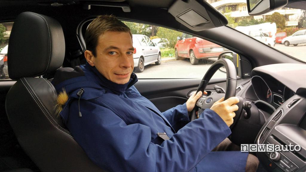 Marco Maternostro pilota test a bordo di Focus ST FORD