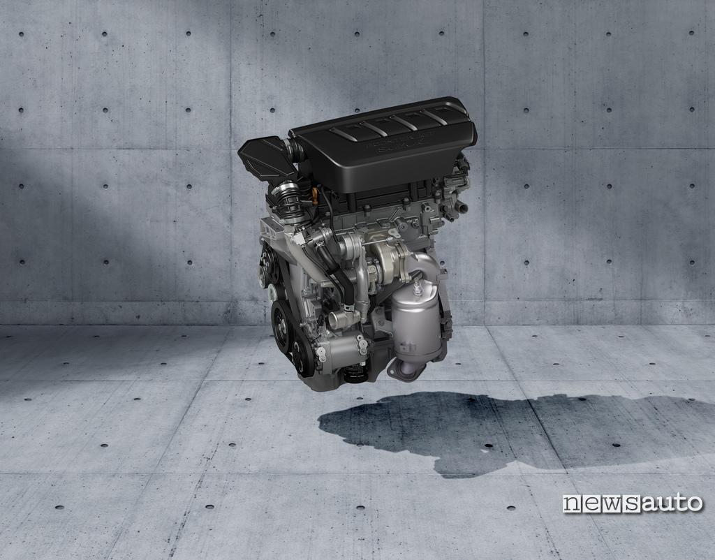 Motore BoosterJet a benzina turbo di 1.4 litri con 140 CV a 5.500 e 230 Nm di coppia della Suzuki Swift Sport