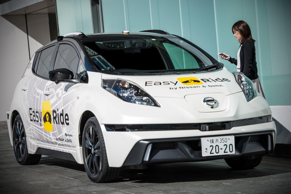 Taxi robot EasyRide test Nissan