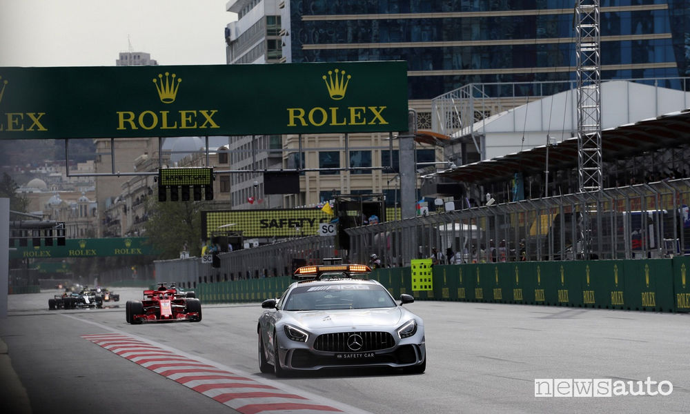 F1 2018 classifiche gara Azerbaijan safety car