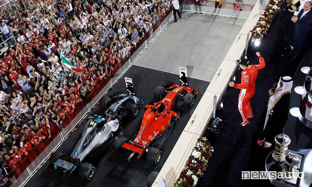 F1 2018 podio gara Bahrain