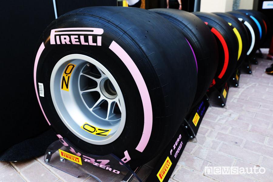 Gomme Formula 1 e Ruote Formula 1 OZ Racing