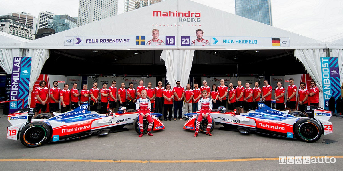 Mahindra all' ePrix di Roma Formula E
