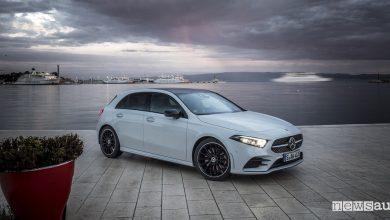 Mercedes fari Multibeam Led, vista frontale Classe A