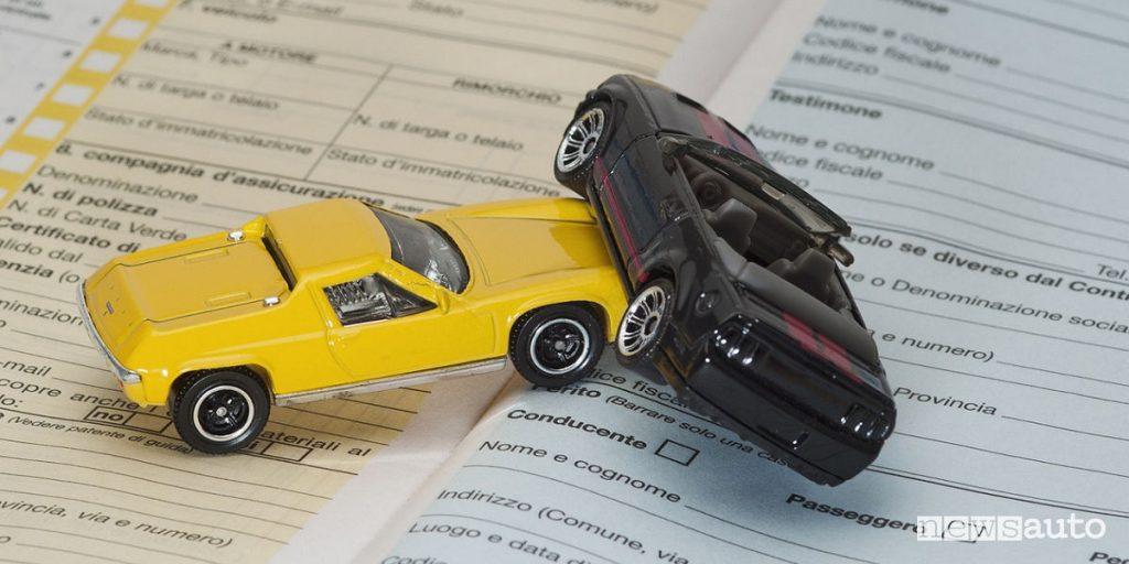 Assicurazione auto incidente modelli