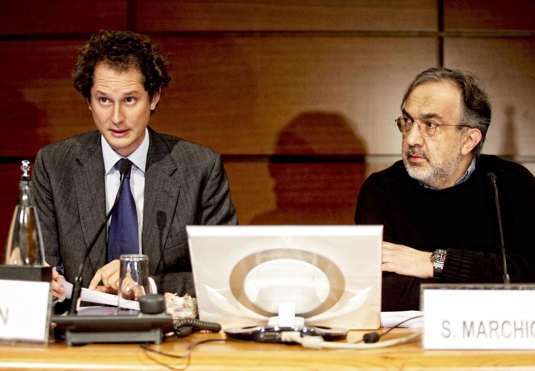 Sergio Marchionne e John Elkann