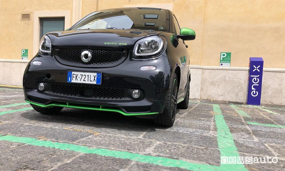 smart elettriche la prova a Roma