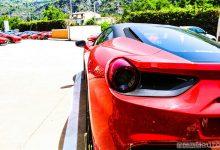 Ferrari 488 vista posteriore faro
