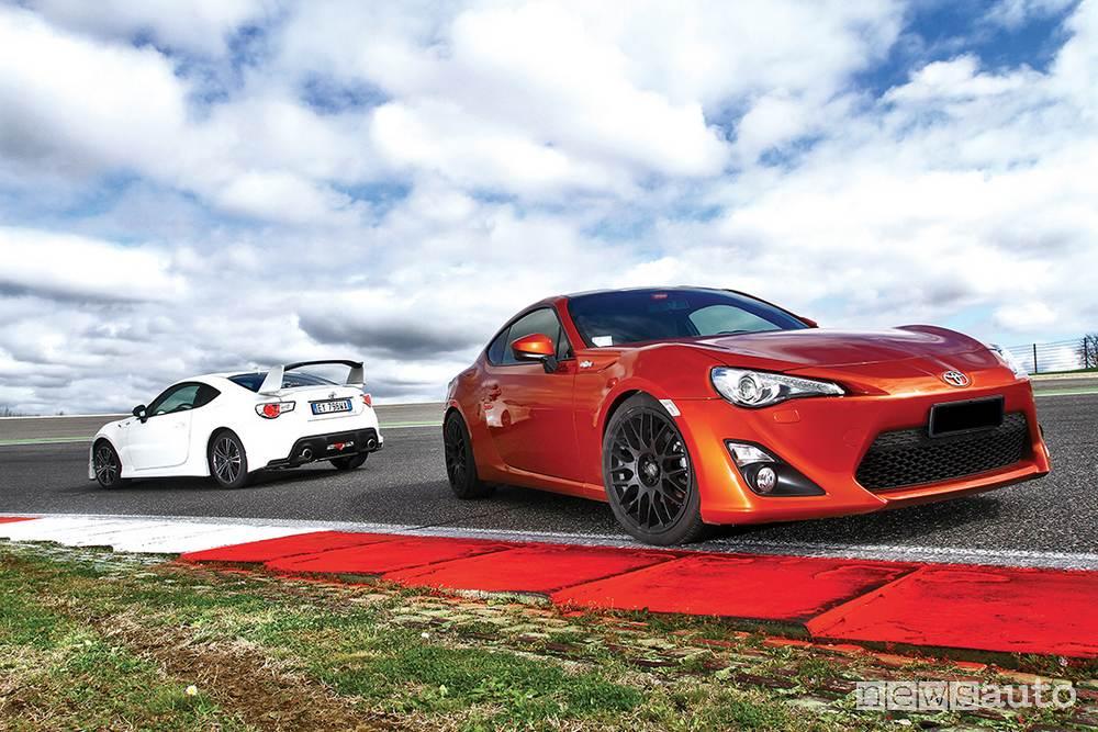 Toyota gt86 prova confronto aspirata vs sovralimentata TEST