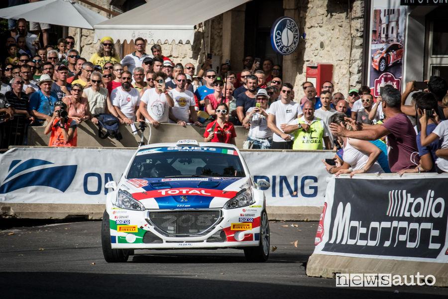 Peugeot 208 T16 Andreucci/Castiglioni Rally di Roma Capitale 2018