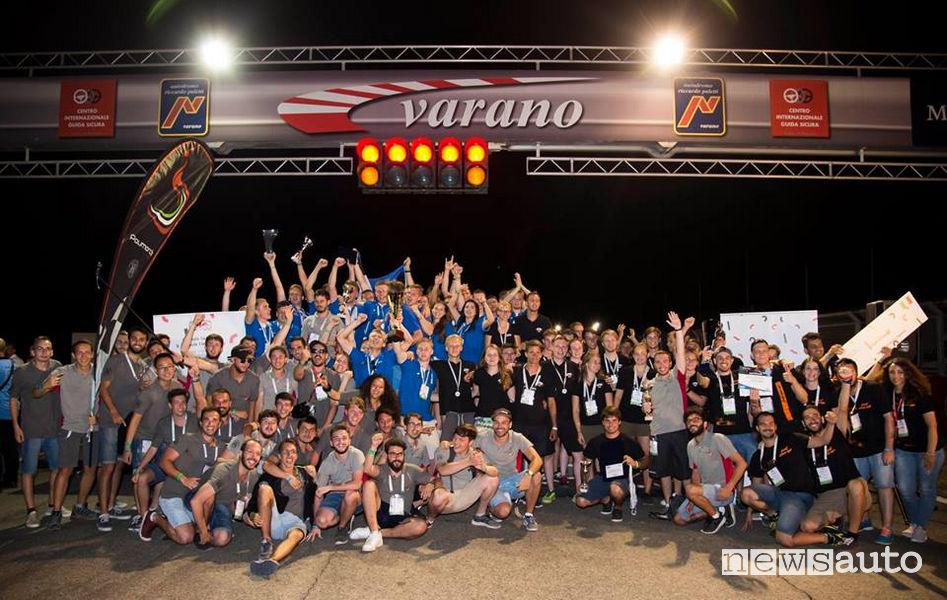Foto di gruppo Formula SAE Italy 2018