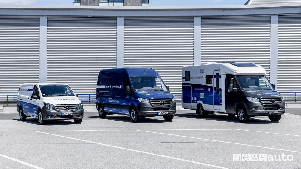 Veicoli commerciali Mercedes elettrici eSprinter