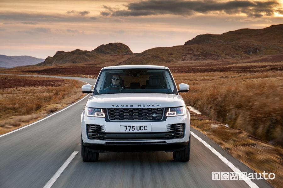 Range Rover PHEV 2019 bianco frontale