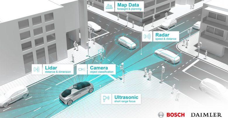 Test guida autonoma Daimler e Bosch in California