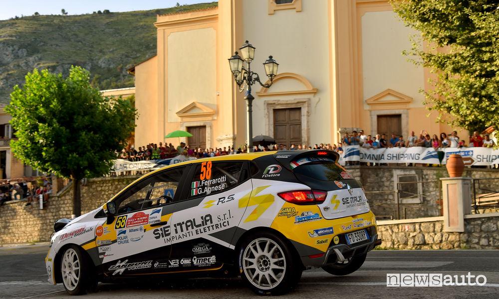 Ivan Ferrarotti, Giovanni Agnese (Renault Clio R3T #58, Best Racing Team) Cir 2018 Rally di Roma