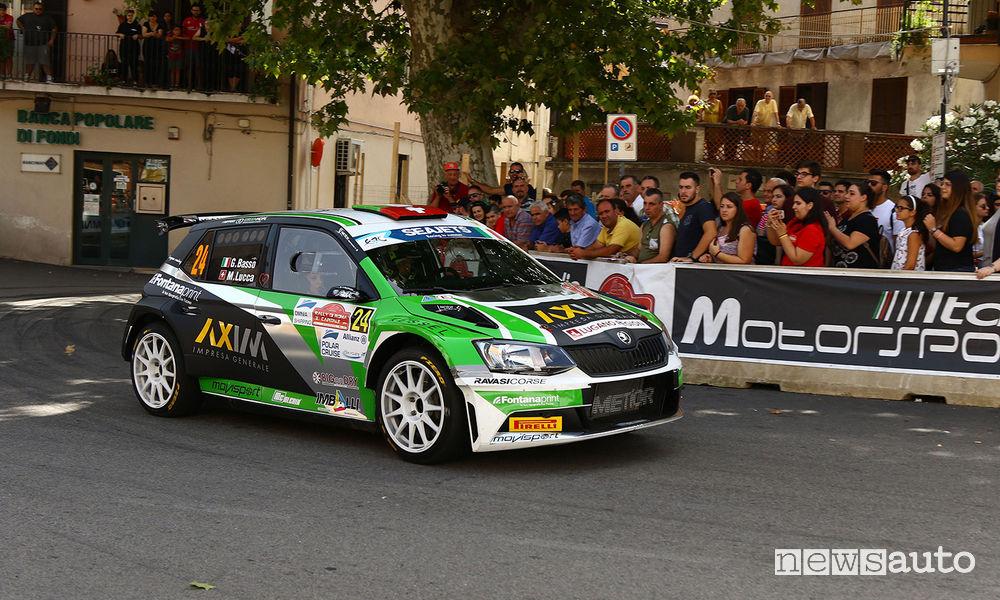 Giandomenico Basso, Moira Lucca (Skoda Fabia R5 #24, Movisport) Rally di Roma 2018